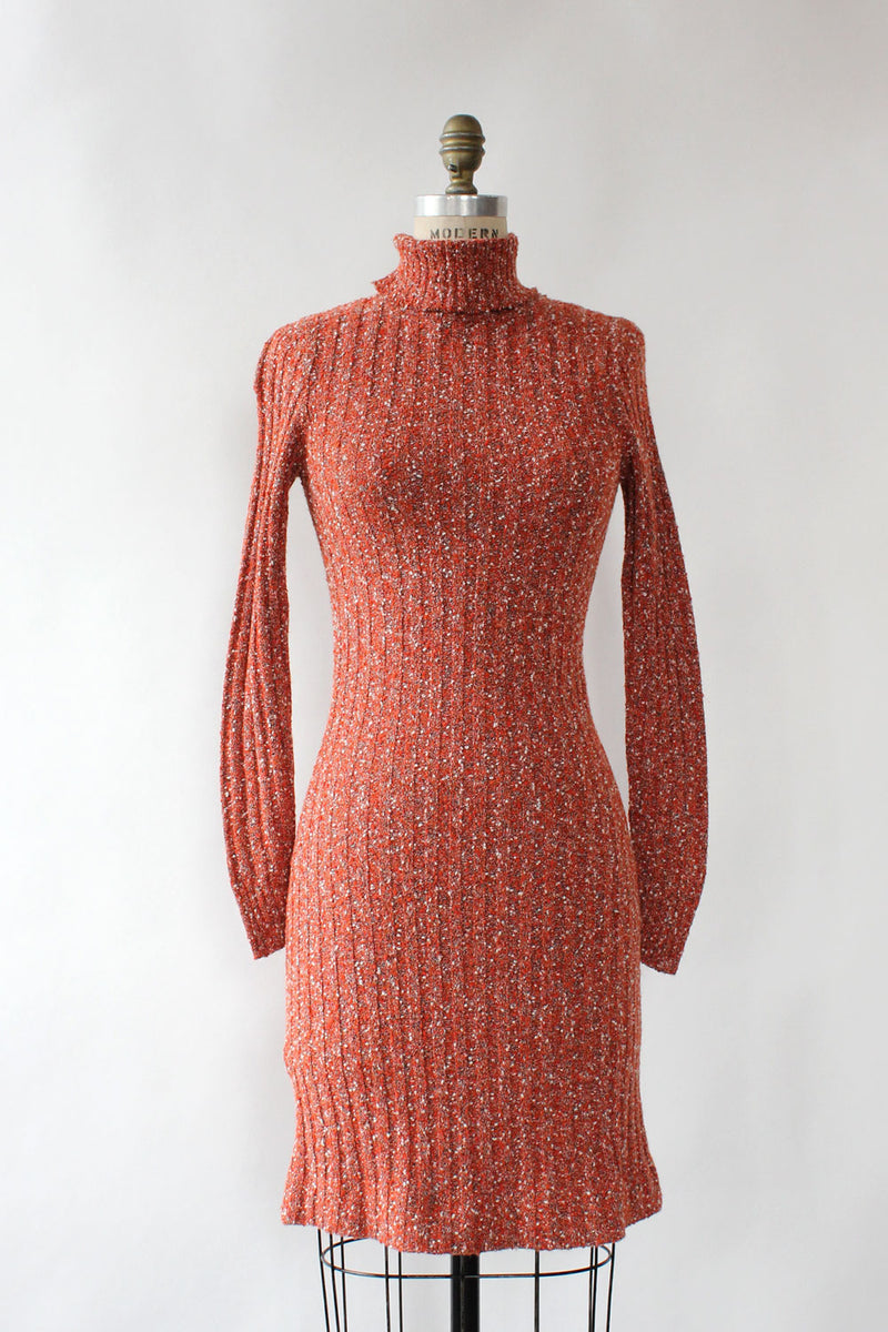 Jane Knit Turtleneck Dress S/M
