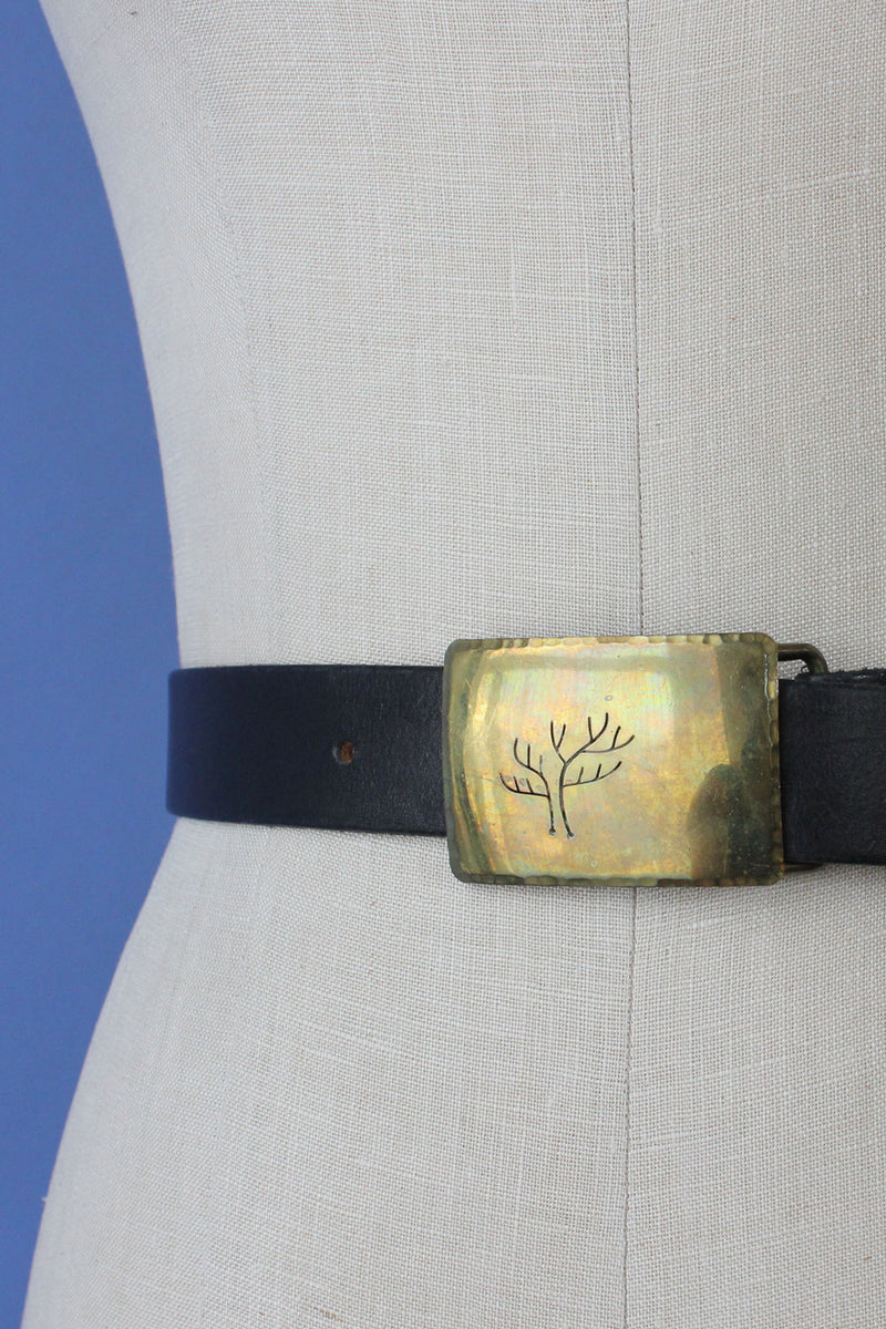 Etched Tree '79 Buckle Belt