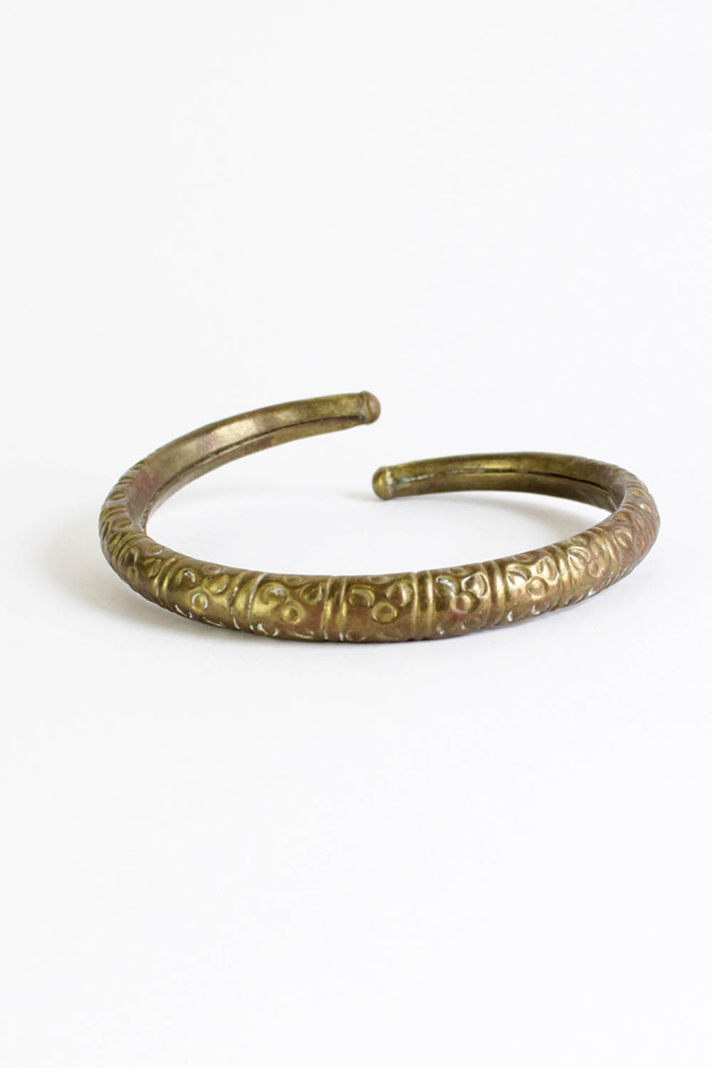70s Indian Etched Coil Choker