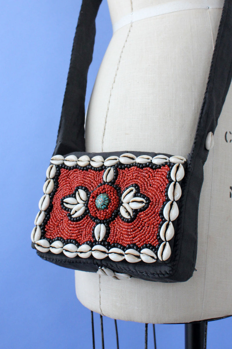 Cowrie Shell Beaded Bag