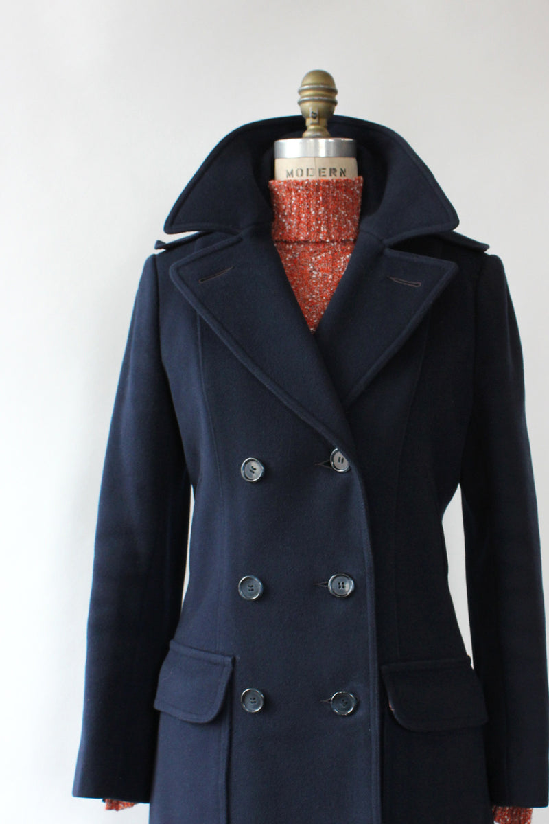 Midnight Tailored Pea Coat S/M