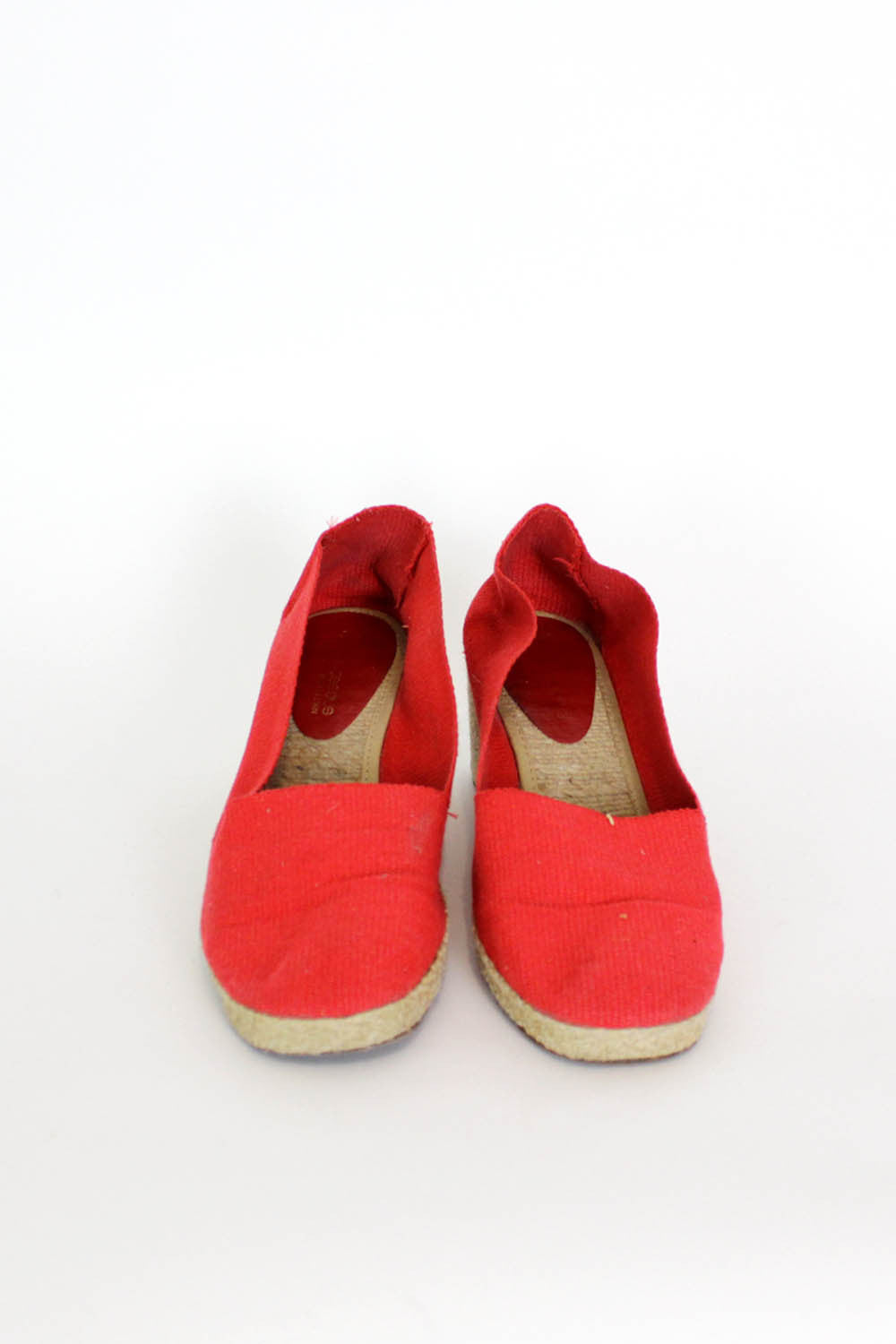 Andre Assous Canvas Wedges 7.5