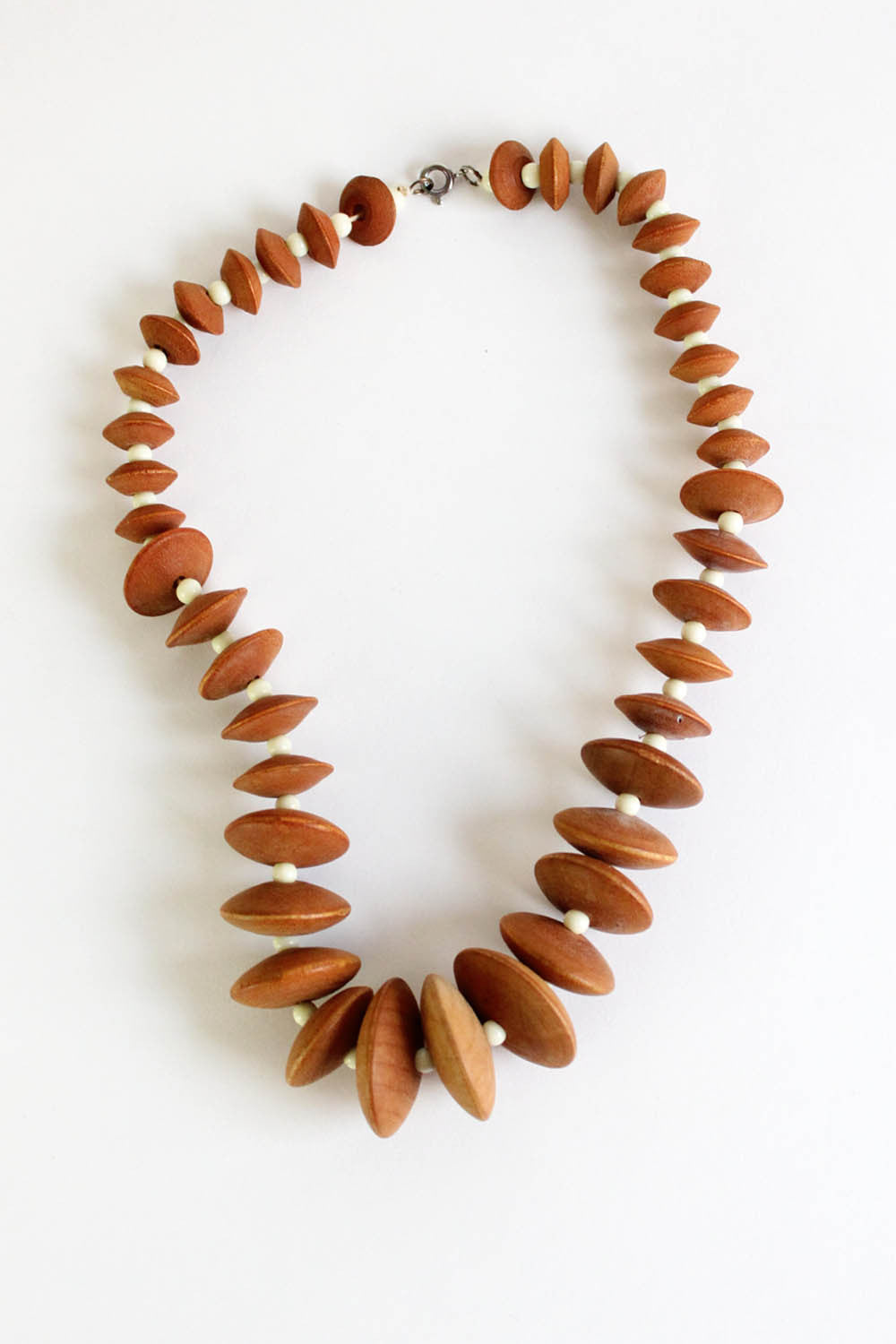 Wood Disc Bead Necklace
