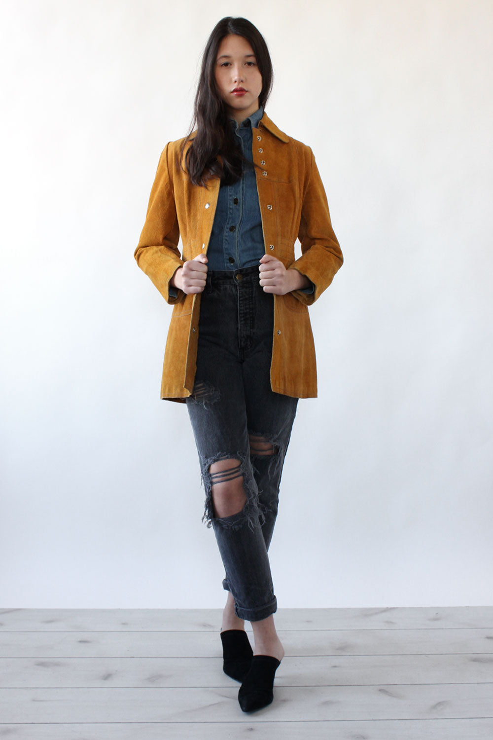 Honey Suede Fitted Jacket XS