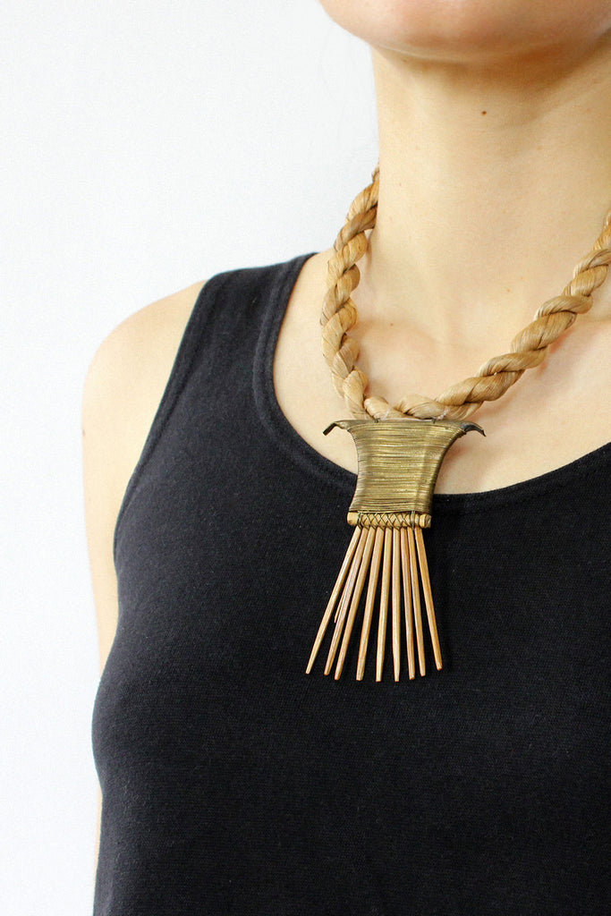 Braided Rope Fang Necklace