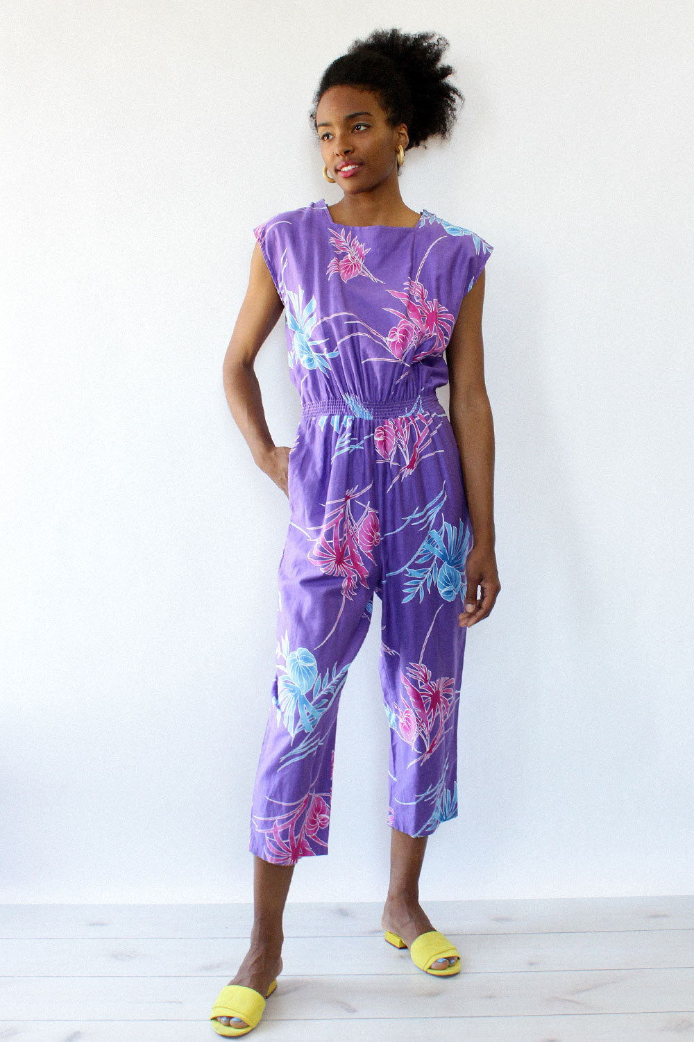 Purple Palm Jumpsuit M