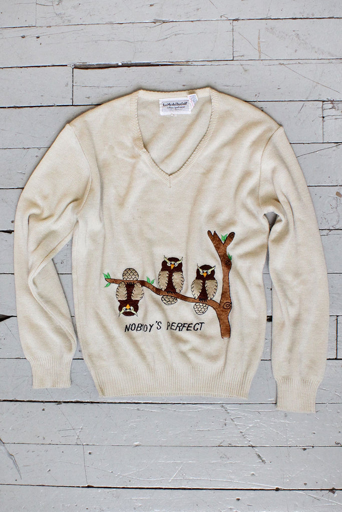 Wise Owl Sweater M/L