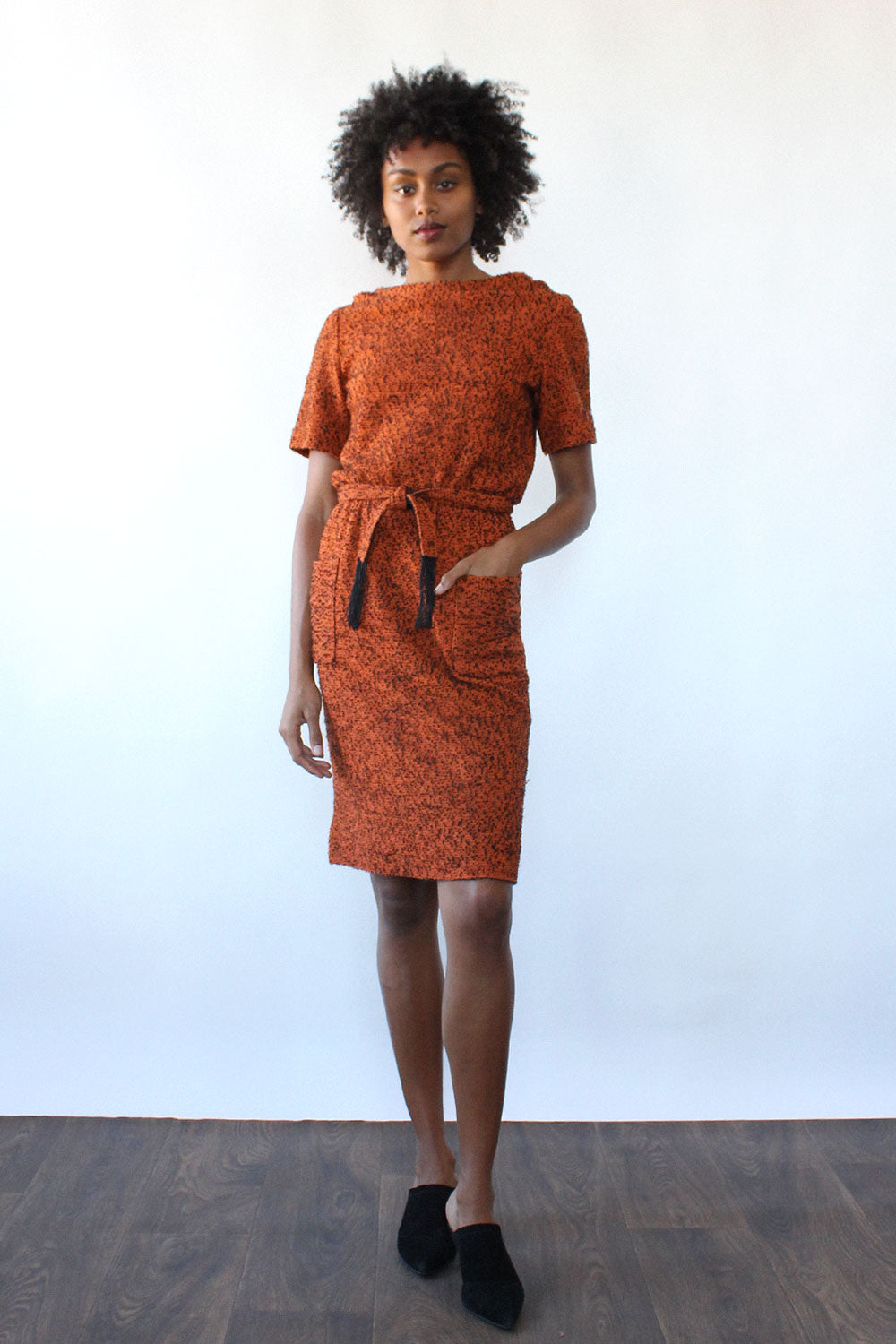 November Belted Pocket Dress S