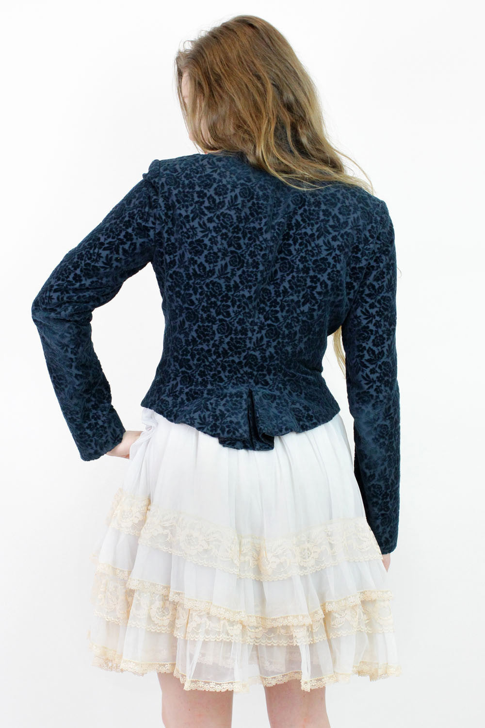 Jill Stuart midnight tapestry jacket S