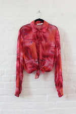 Christian Dior Sunset Sheer Silk Blouse M/L