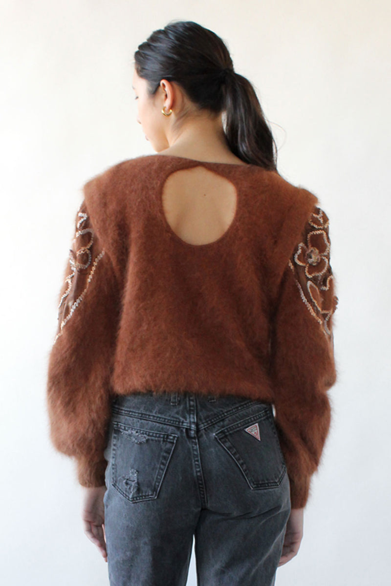 Nutmeg Angora Cutout Sweater M/L