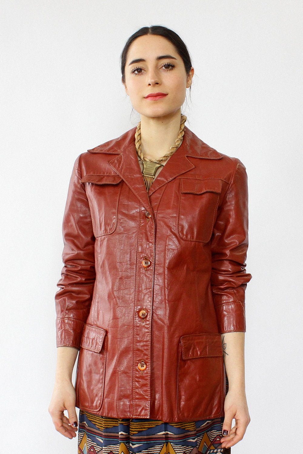 Brick Leather Jacket XS/S