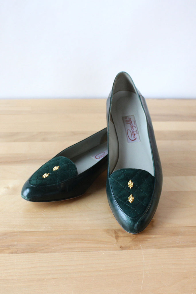 Pappagallo Quilted Leather Flats 8-8.5