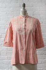Ringo Striped Embroidered Top S/M
