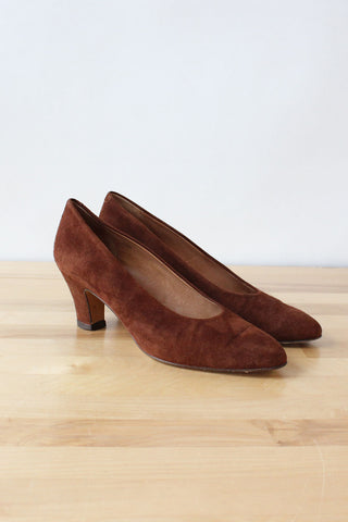 Ralph Lauren Aubergine Heeled Loafers 7