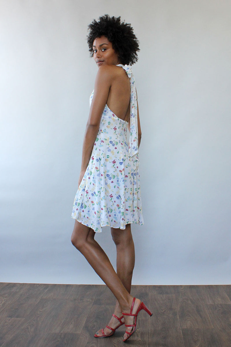 Cherry Blossom Halter Dress S/M