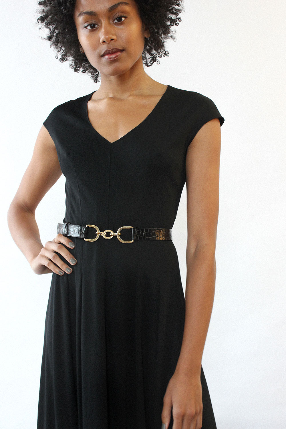 Simple Black Jersey Maxi S/M