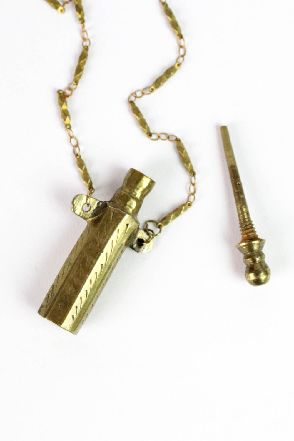 Etched Poison Bottle Necklace