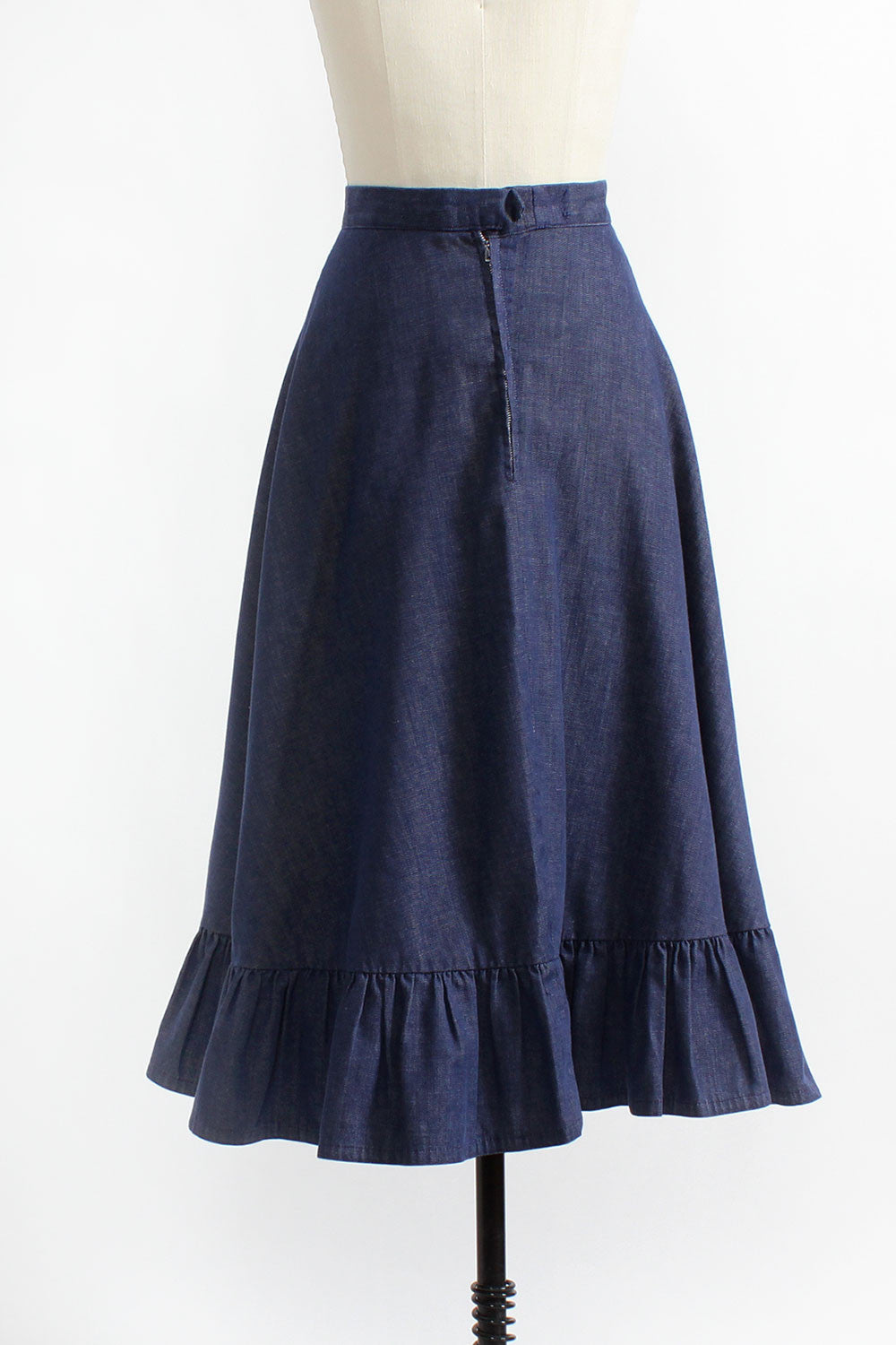Dark Denim Bias Skirt M