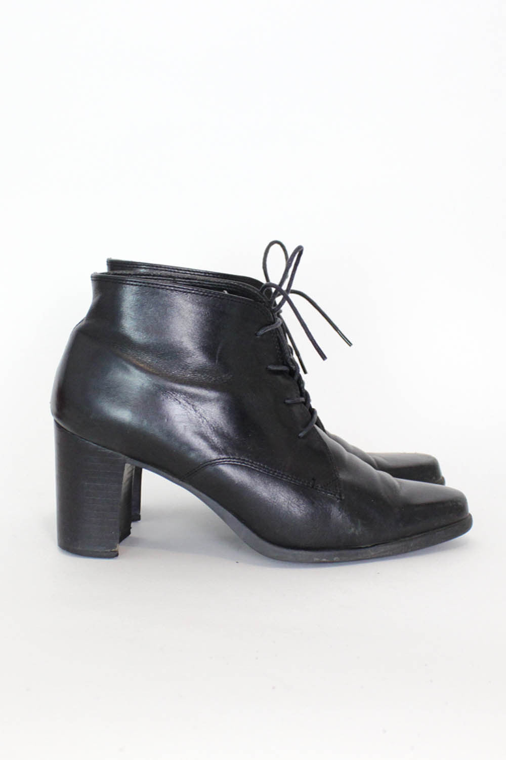Lace Up Heeled Ankle Boots 7