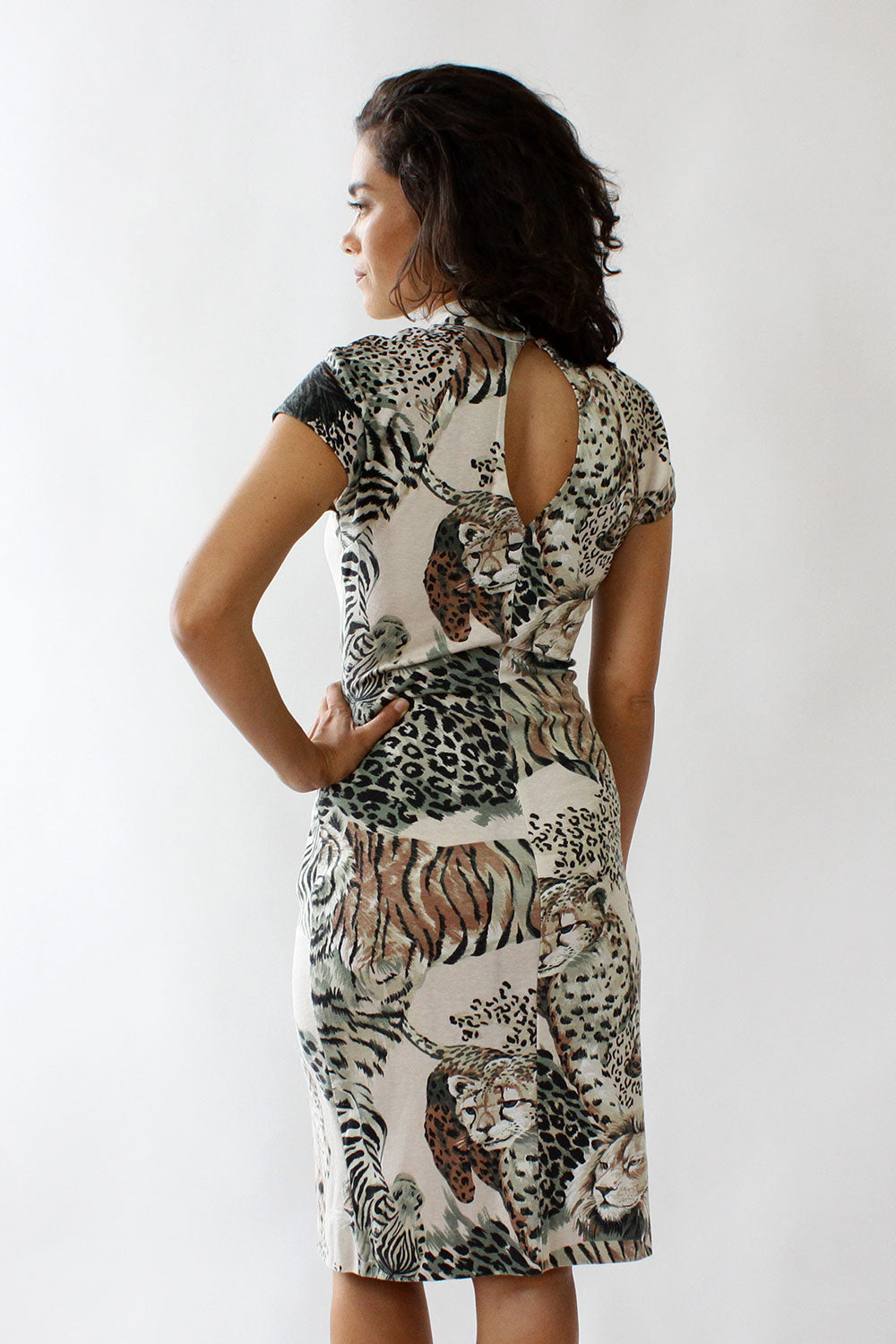 Animal Queendom Cap Dress S