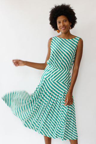 Silk Candy Stripe Dress S