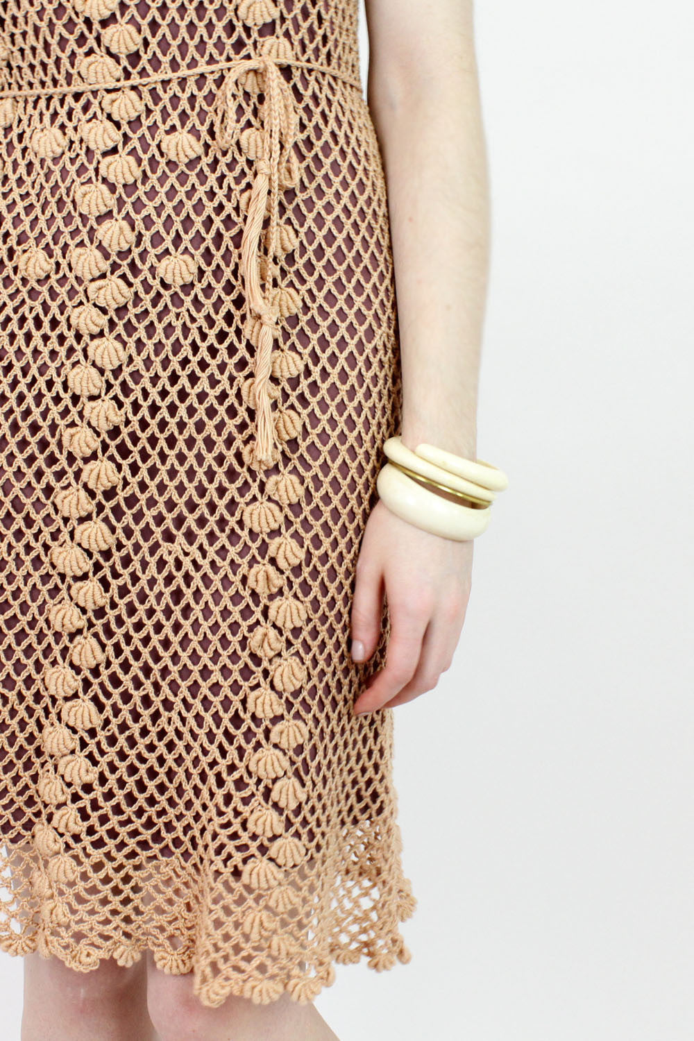 vinatge crochet dress detail