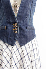 Deep V Denim Vest XS/S