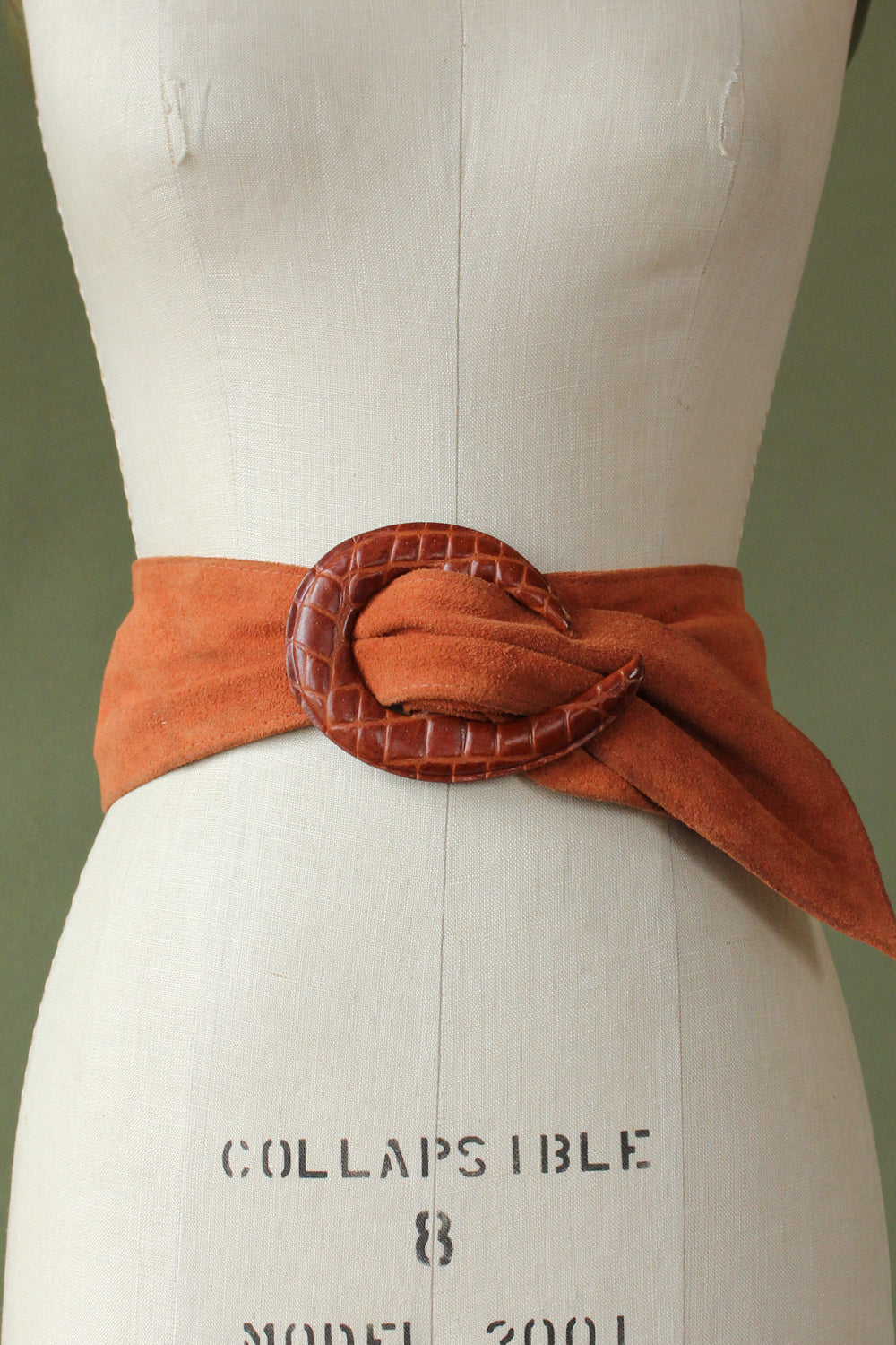 Peachy Suede Statement Belt