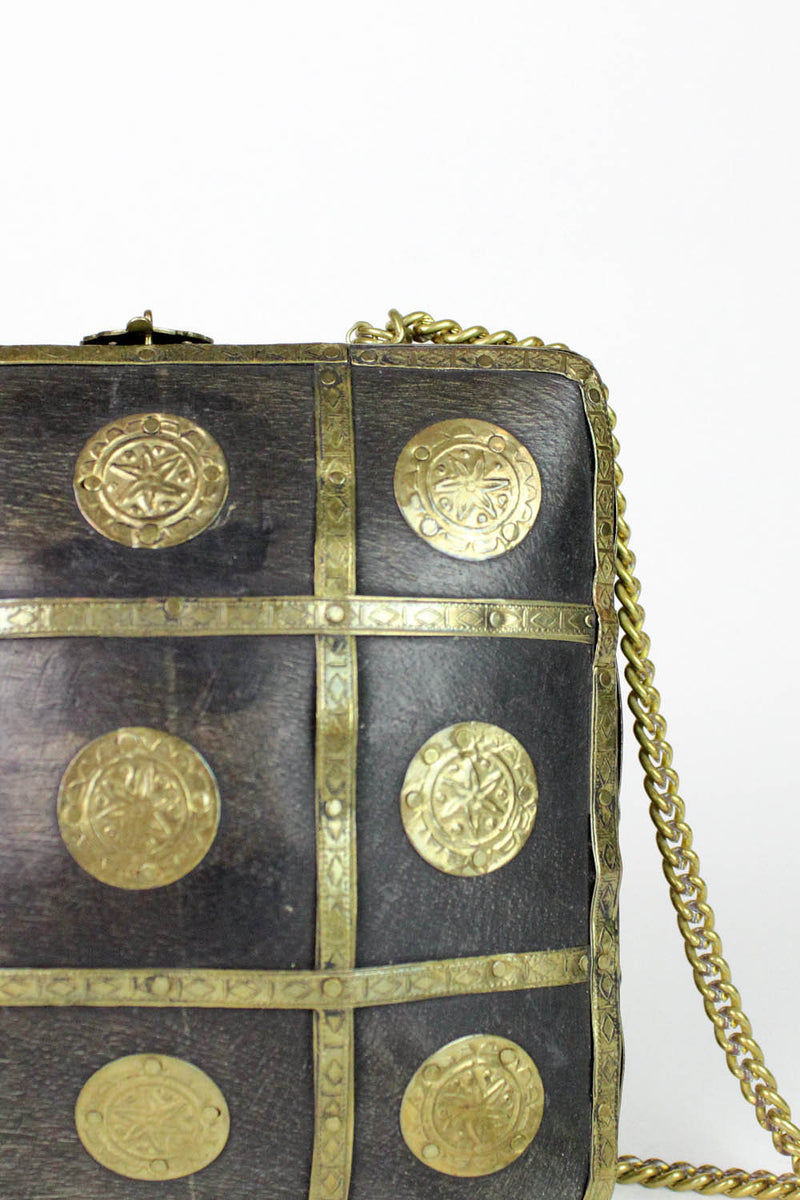 Wooden Box Brass Coin Purse