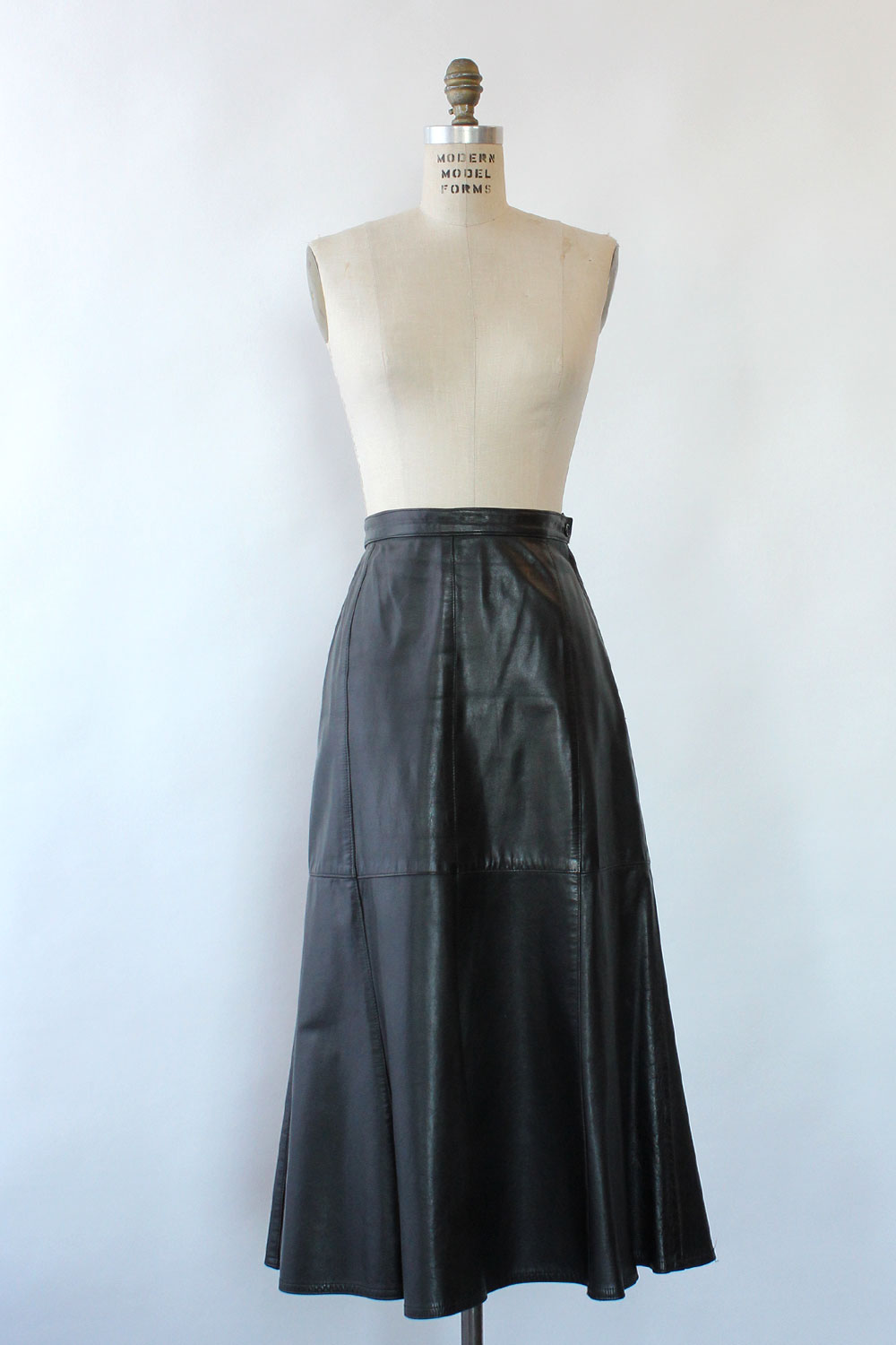 Caruso Leather Trumpet Skirt M