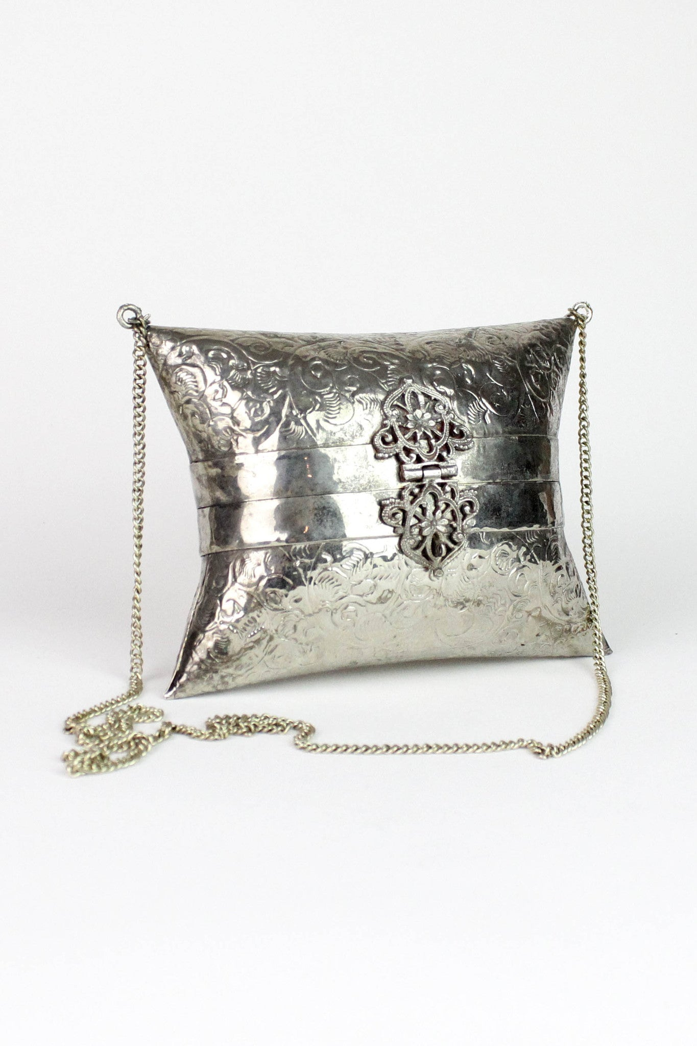 vintage crossbody metal box bags