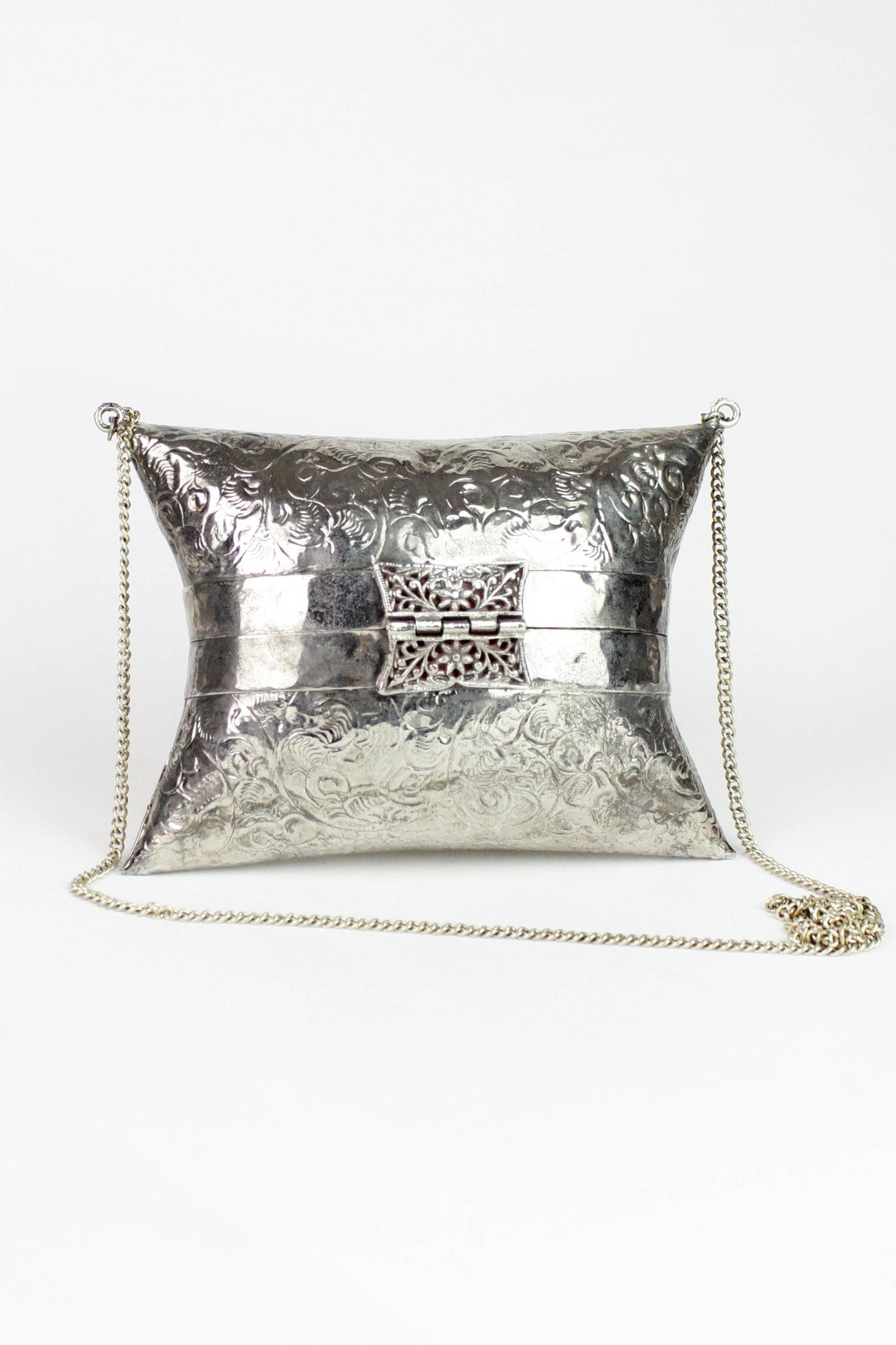 vintage crossbody metal box purses