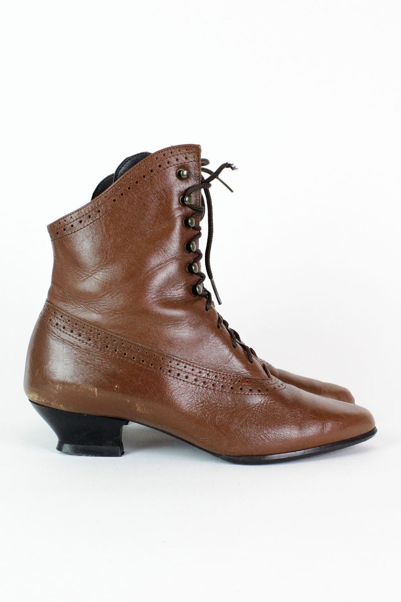 Vintage Leather Granny Boots 7 – OMNIA