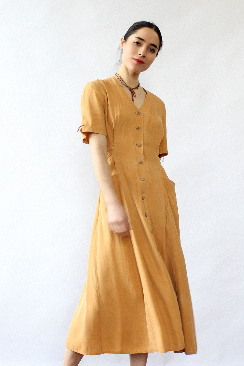 Saffron Buttondown Dress S/M