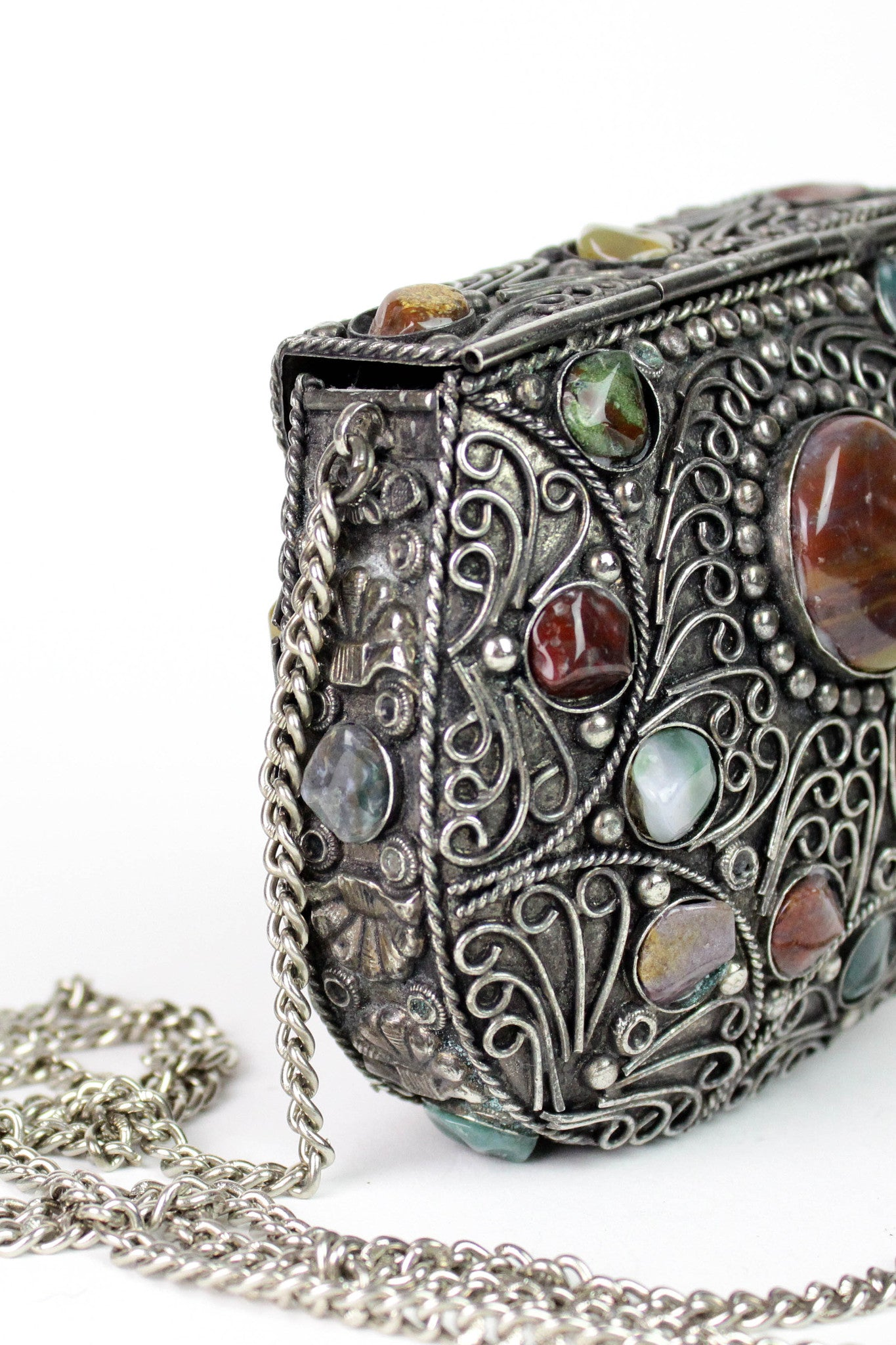 vintage metal box purses