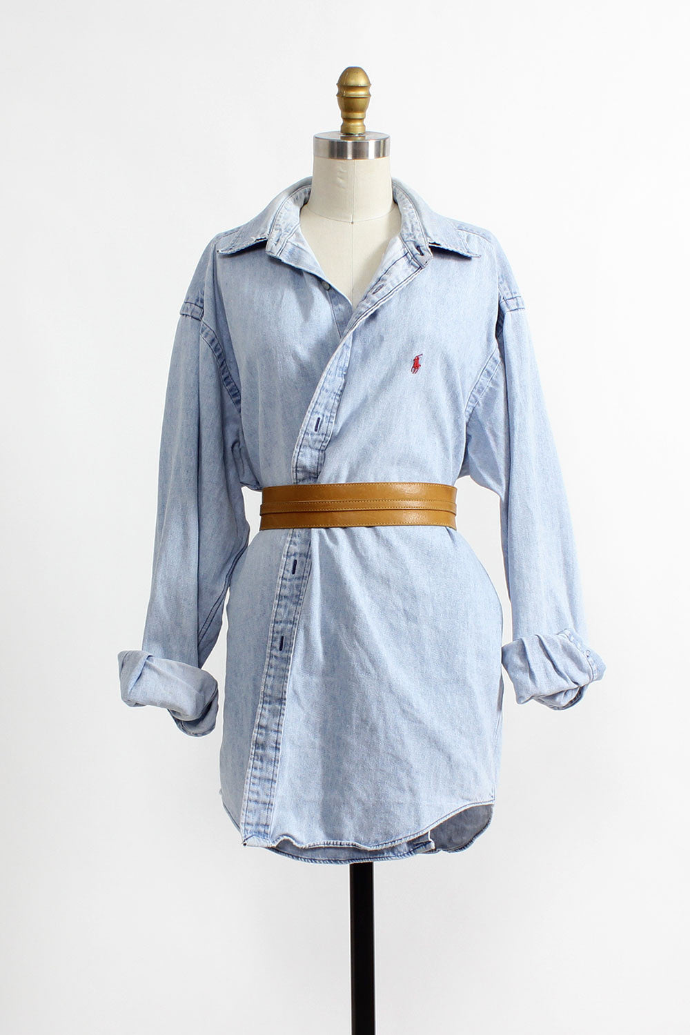 Distressed Chambray Buttondown