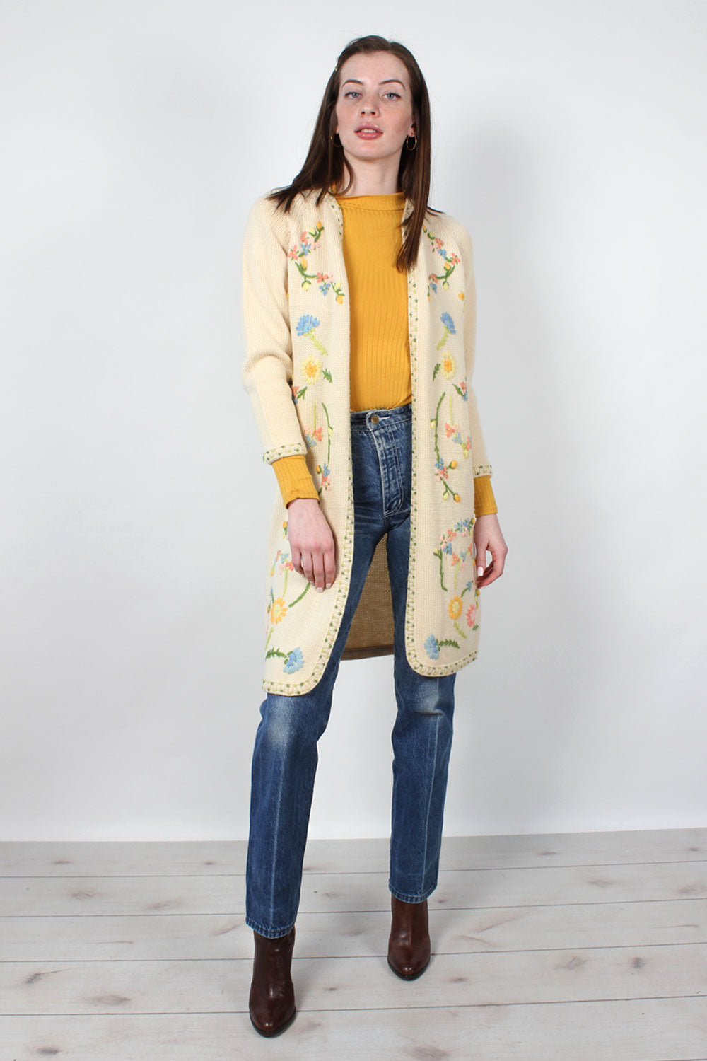 Nat Allen Embroidered Cardigan XS-M