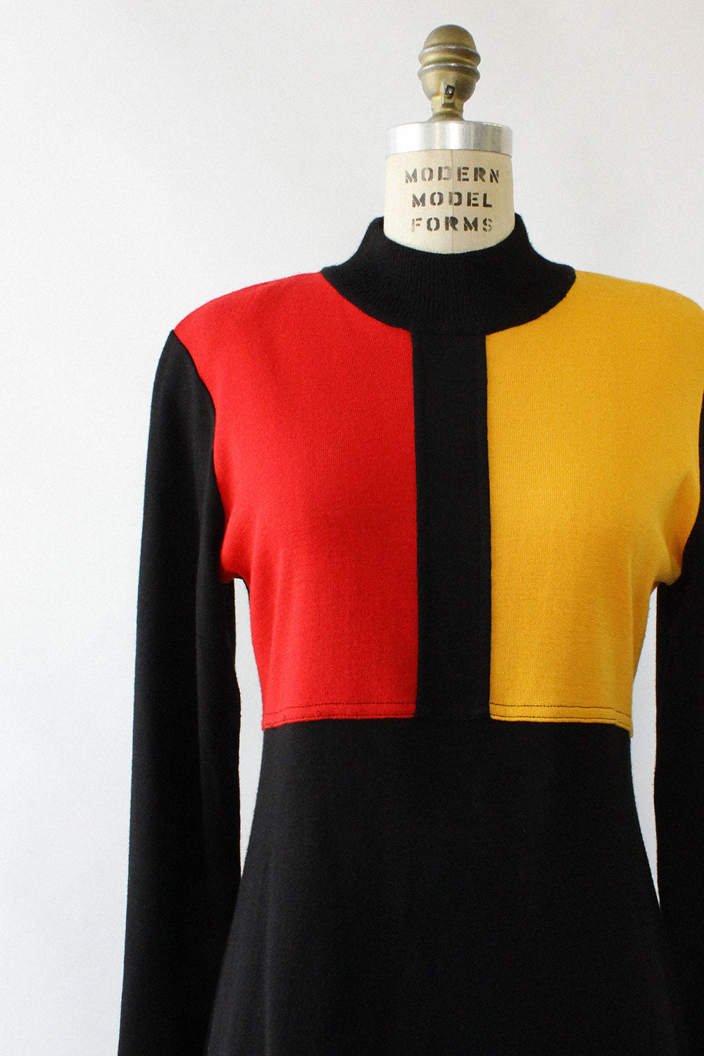 Color Block Sweaterdress M