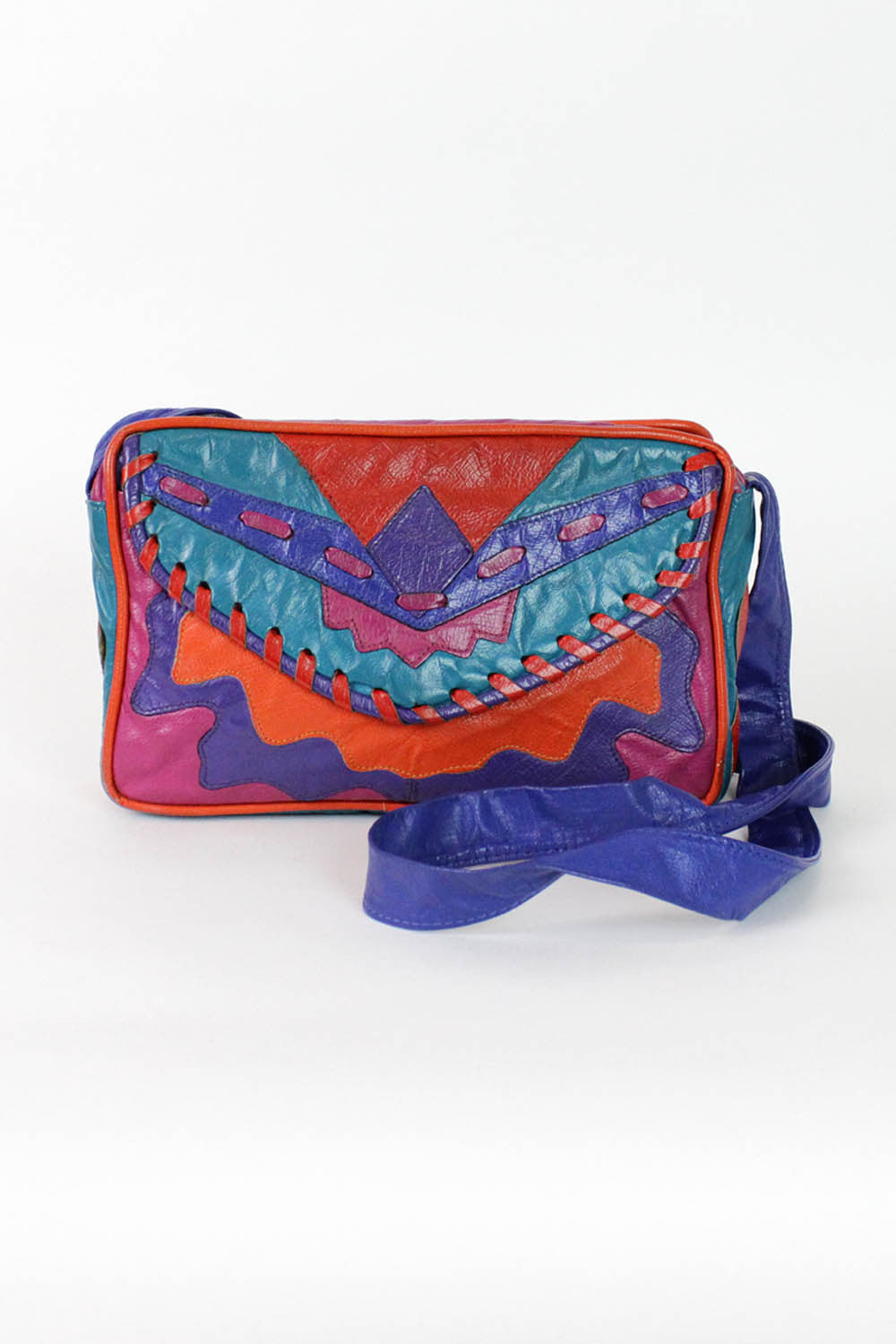 colorful leather bags
