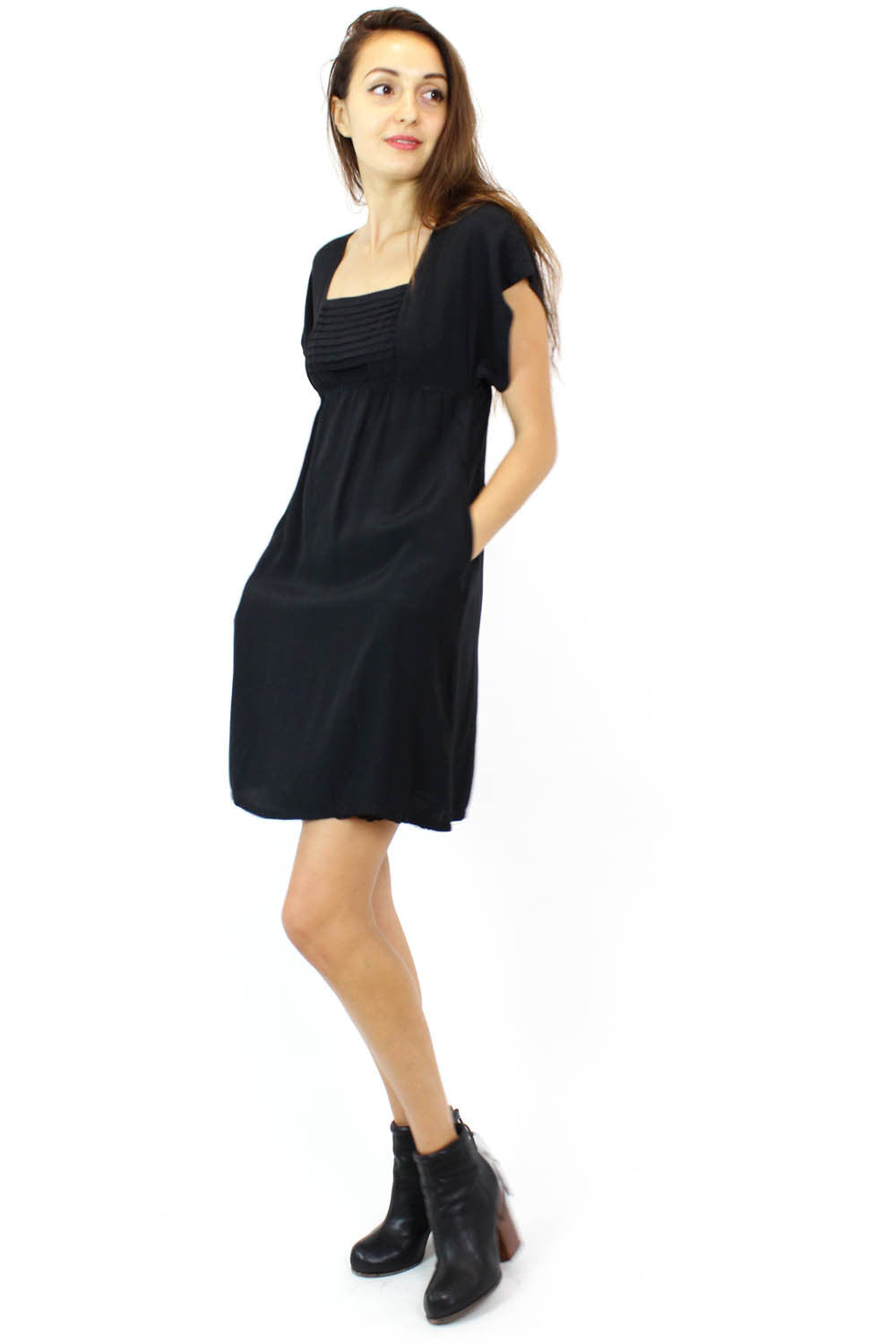 empire waist dress with pockets