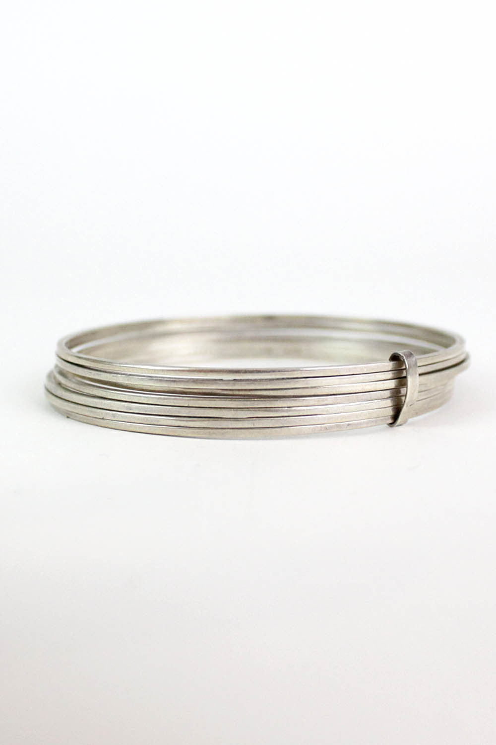 Sterling Bangle Lucky No. Seven