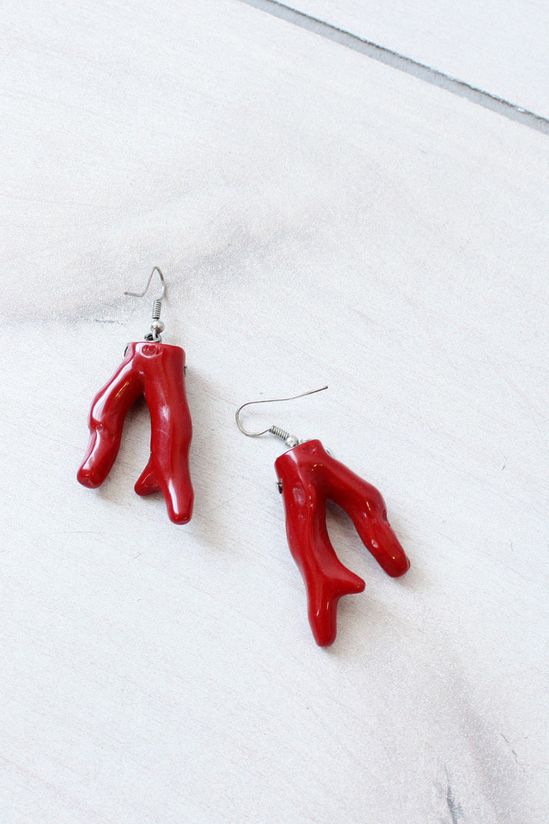 Red Coraline Earrings
