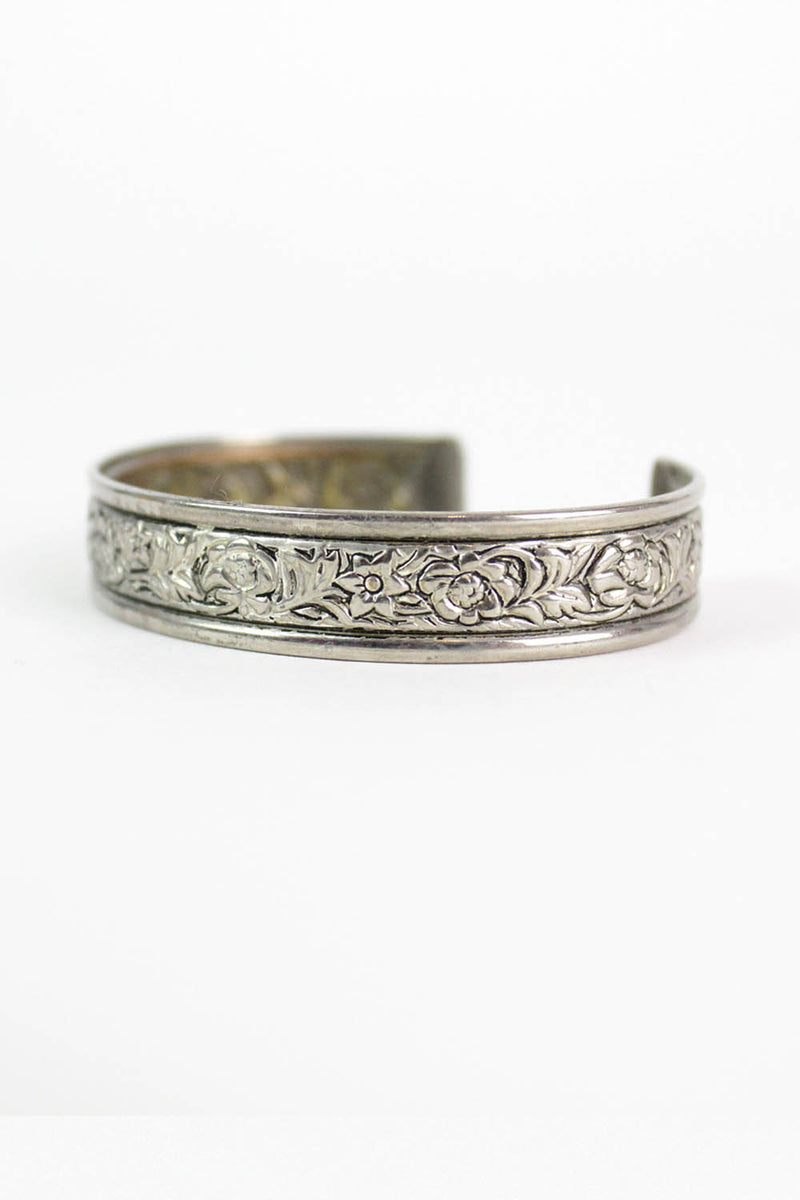 Delicate Floral Etched Cuff