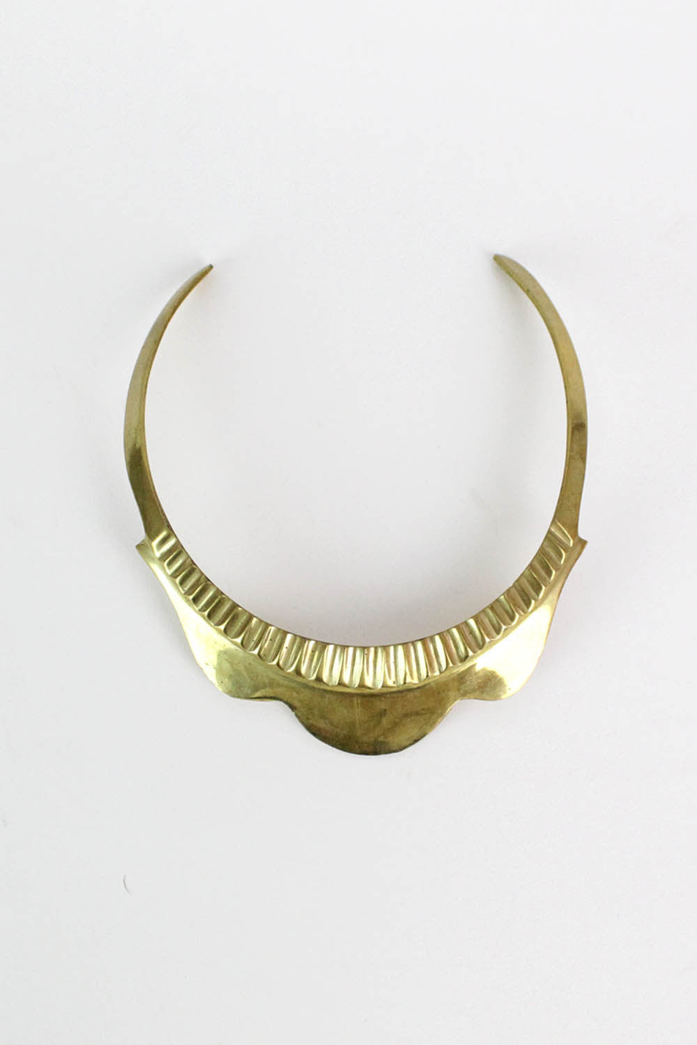 brass choker necklace