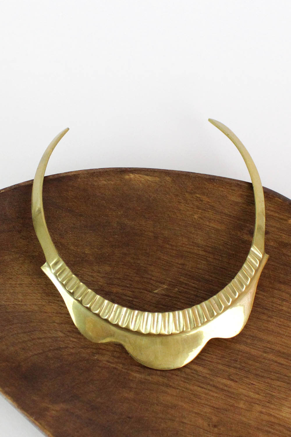 brass choker collar