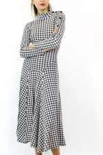 Betsey Johnson punk label houndstooth dress M