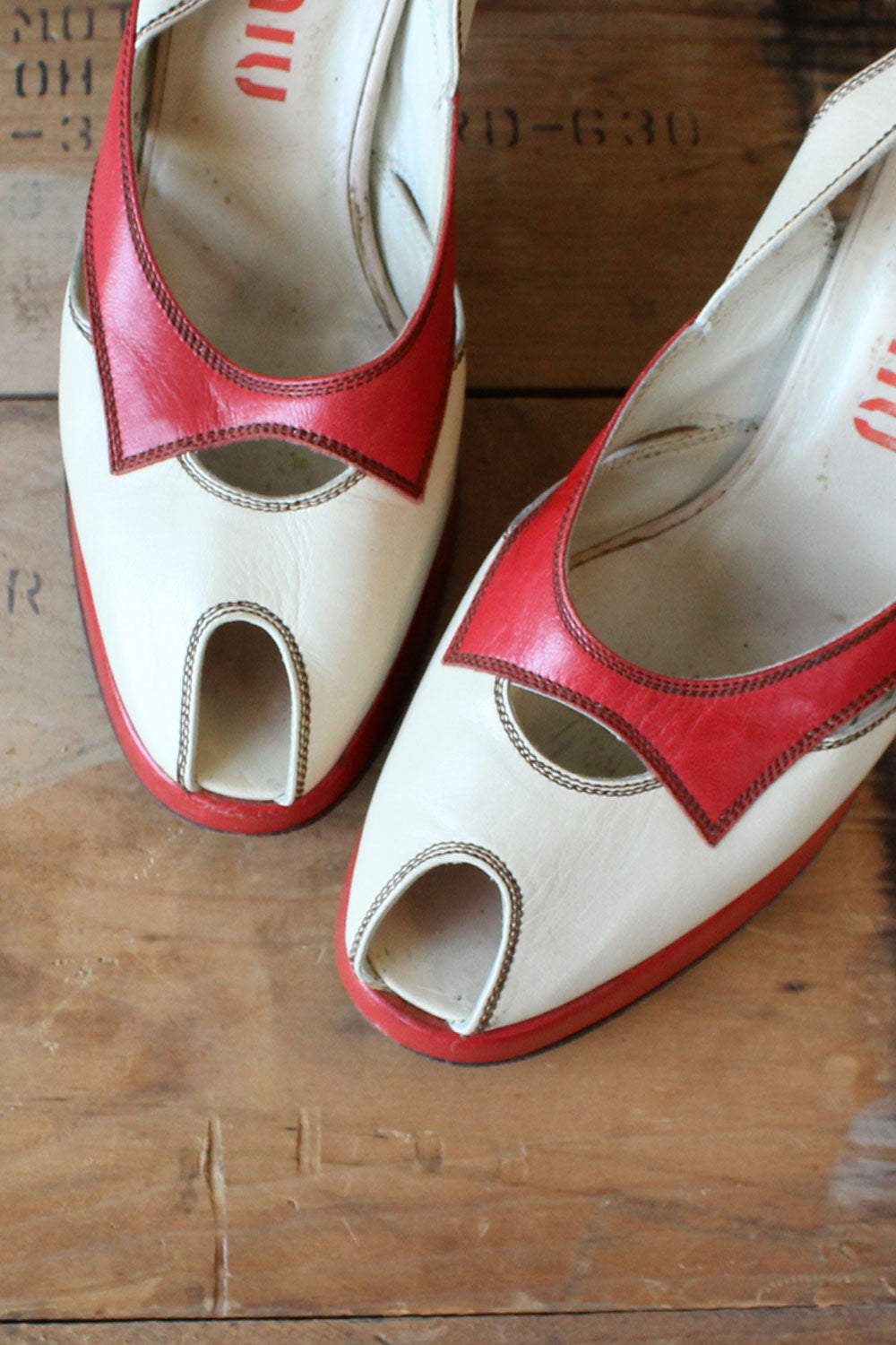 Miu Miu Cherry Platforms 8.5-9