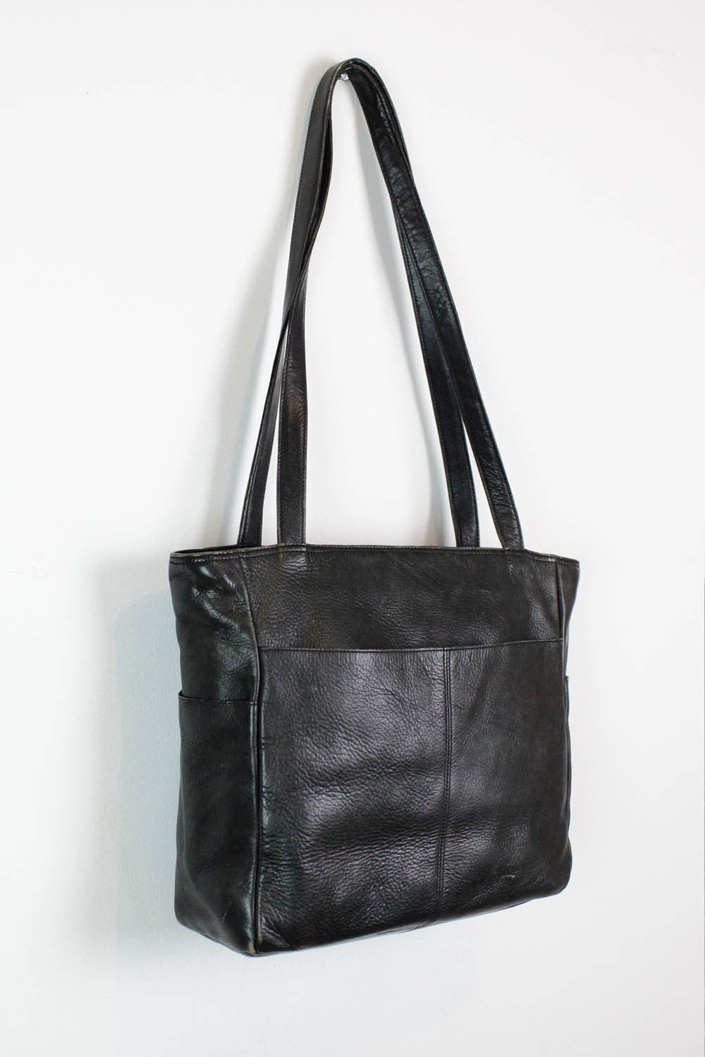 Basic Black Leather Tote