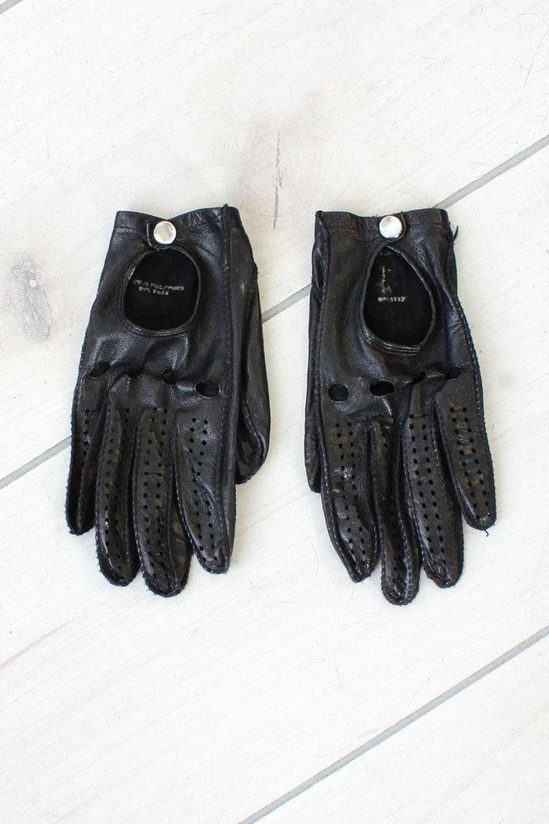 Jet Black Driving Gloves